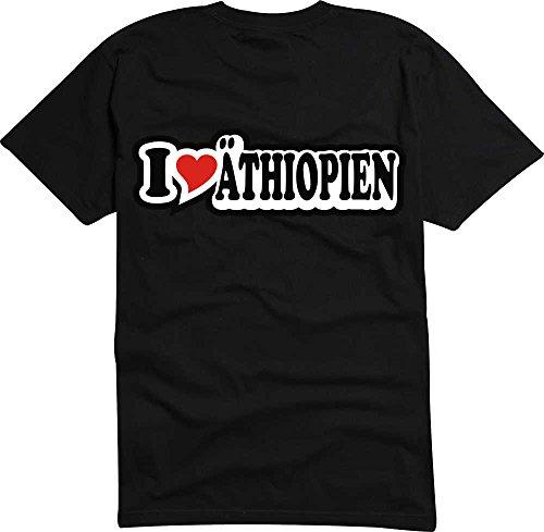 T-Shirt I Love Heart Herren I LOVE €THIOPIEN Schwarz