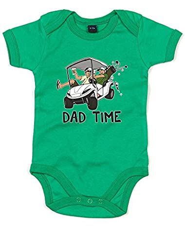 Dad Time, Imprimé bébé grandir - Vert/Noir/Transfert 12-18 Mois