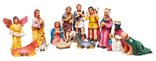 Krippenfiguren Krippe ca. 6,5cm hoch Mini Weihnachten Jesus Maria Josef Engel ()