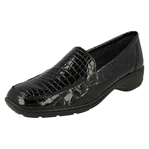 Rieker 583A0-00 Wonder Ponerse Zapatos Charol