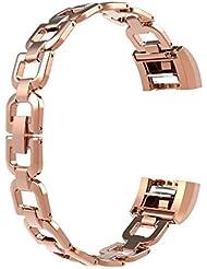 Für Fitbit Charge 2 Bänder, Wearlizer Metall Armbandbänder für Fitbit Charge 2