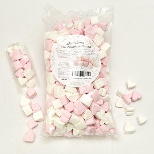 Marshmallow Herzen 1kg - pink & weiß