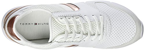 Tommy Hilfiger Damen S1285kye 1z1 Sneakers Weiß (Snow White/ Rose Gold 902)
