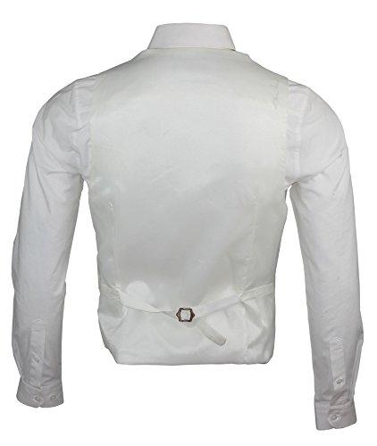 Coupe ajustée pour homme Motif imprimé cachemire Gilet brillant classique avec une tenue décontractée Ecru - Ivoire