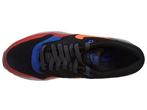 Nike Air Max 1 537383, Herren Low-Top Sneaker schwarz/rot
