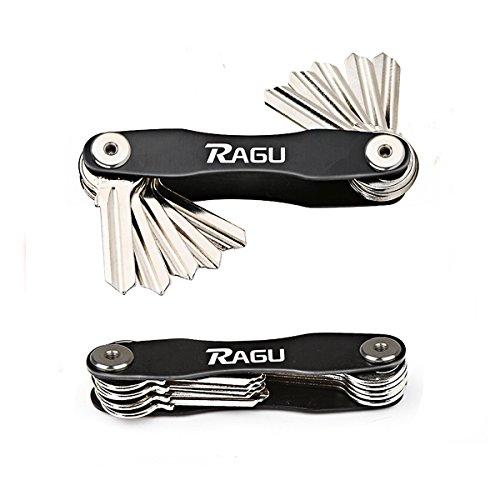 RAGU Key Organiser Key Chain Key Holder Pocket Organiser Compact Design Aircraft Aluminum Material Fit Up To 10 Keys