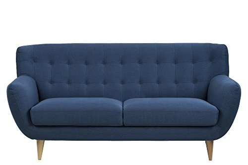 AC Design Furniture 3-Sitzer Jimmy, B: 185 x T:84 x H: 87 cm, Stoff, Blau