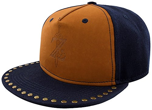 The Legend Of Zelda Breath Of The Wild - Z Game Logo Snapback-Cap navy/beige (Legend Of Zelda Hat)