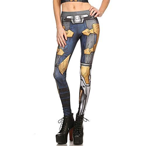 Mjia Cloth Frauen Halloween-Kostüm, Gedruckte Elastische Strumpfhosen, Leggings, B, S