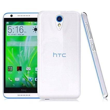Techno TrendZ Crystal Clear Transparent Hard + Soft Back Case Cover Guard for HTC Desire 620G - Full Transy