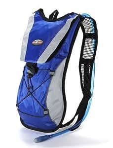 Fahrradrucksack / Laufrucksack mit Trinkblase, 2 l, Blau