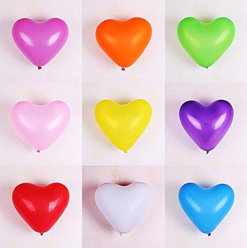 Stonges 12' globo en forma de corazón Globo de látex fiesta de cumpleaños de la boda decoración 100 piezas