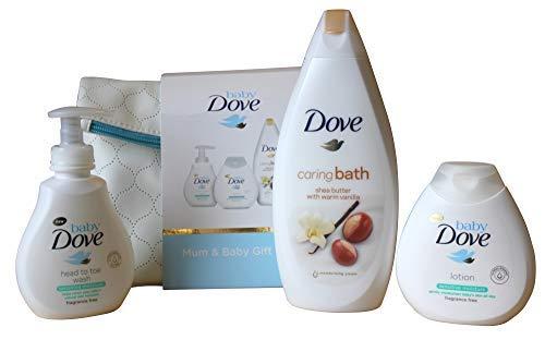Baby Taube Caring Bath 4-teiliges Geschenk Set - Zarte Geschenk-set