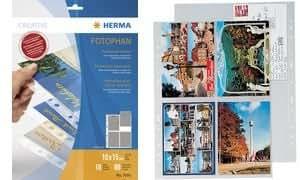 HERMA pochette pour carte postale, pour cartes 10 x 15 cm