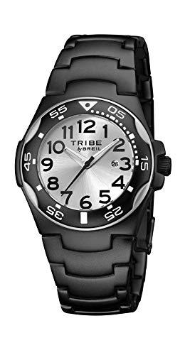 Orologio breil ragazzo ice quadrante mono-colore argento movimento solo tempo - 3h quarzo e bracciale alluminio nero ew0186
