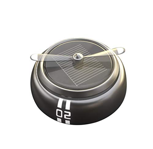 Flut-metall (HENGXIANG HJAZ Air Fighter Auto Parfüm, drehen durch Sonnenenergie, Runde, Flut Waren, Metall-Material, Auto Armaturenbrett/Home/Office Desktop-Dekoration, kreative Kinder Geschenke.Mehrfarbig Opt)