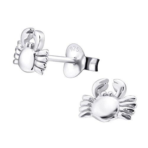 Laimons Mädchen Kids Kinder-Ohrstecker Ohrringe Kinderschmuck Krebs Krabbe Meeresbewohner glanz aus Sterling Silber 925 -