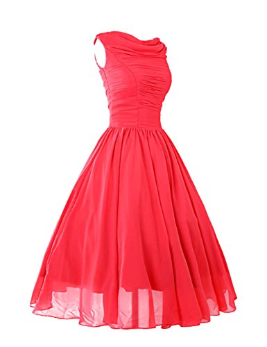 Dressystar Robe de femme, Robe de bal vintage des années 50 style rockabilly en mousseline Turquoise