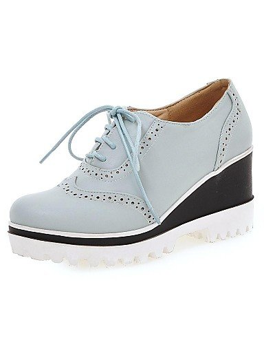 ZQ hug Scarpe Donna-Scarpe col tacco-Tempo libero / Ufficio e lavoro / Casual-Creepers / Punta arrotondata-Plateau-Sintetico-Nero / Blu / Bianco , white-us10.5 / eu42 / uk8.5 / cn43 , white-us10.5 / e black-us5 / eu35 / uk3 / cn34
