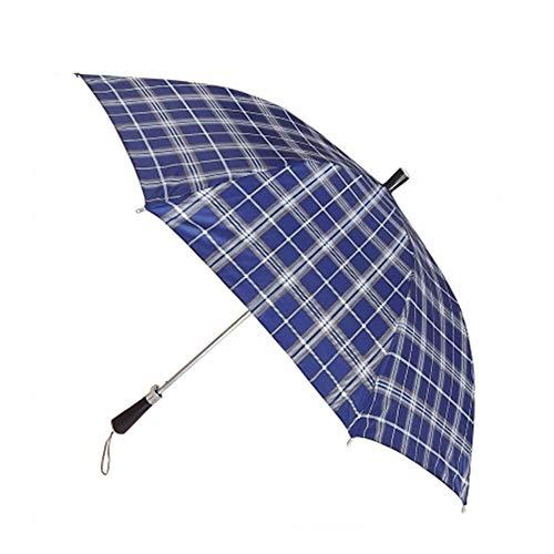 LYJZH Regenschirm, Winddichter, Stabiler Und Kompakter Großschirm, Schnell Trocken, Plaid Regenschirm Regenschirm UV-Schutz Farbe1 98cm