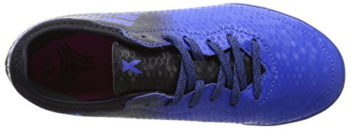 adidas Jungen X Tango 16.3 Tf J Futsalschuhe Blau (Blue / Core Black / Shock Pink)