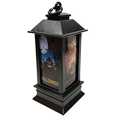 Alaojie Gruselige Laternen-Halloween-Dekorations-Requisiten Glühendes Nachtlicht Lustig beängstigend