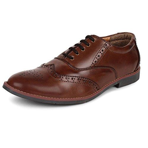 Adreno Men's Brogue Formal Shoes [ADRBROGUE] - 7 UK/IND