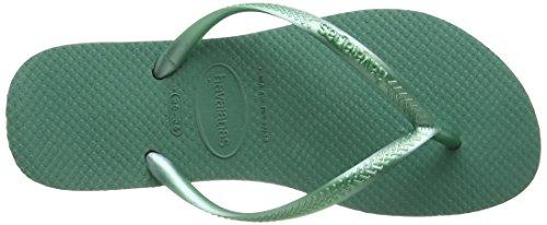 Havaianas Slim, Sandales Plateforme femme Vert (Green Tea 6616)