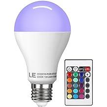 LE Lampadina LED RGB 10W E27, Pari