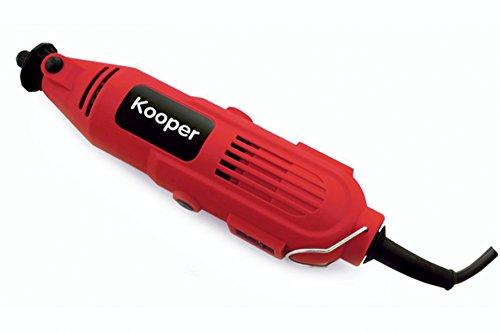 Kooper 2170819 fraiseuse/mini-perceuse avec 40 accessoires, 135 W, rouge/noir,