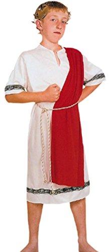 Halloweenia - Jungen Karnevalskomplettkostüm römischer Kaiser , 122, Rot-Weiß (Römische Kaiser Krone)