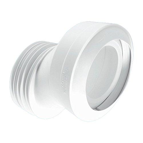 McAlpine mac-4a 40mm gekröpft macfit WC Anschluss-weiß