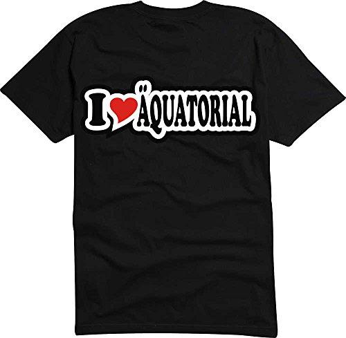 T-Shirt I Love Heart Herren I LOVE €QUATORIAL Schwarz