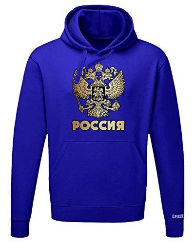 WM 2018 - POCCNR - RUSSLAND RUSSIA - HERREN UND DAMEN HOODIE Royalblau