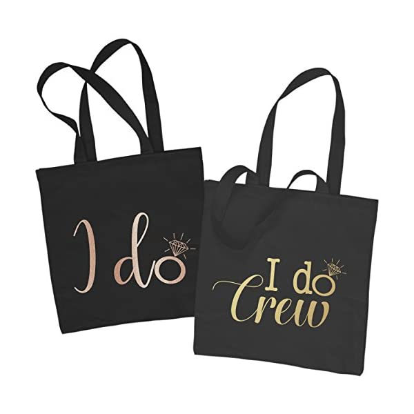 I DO CREW Hen Party Tote Bag Hen Do Bridesmaid Bride Tribe Wedding Party Gift - handmade-bags