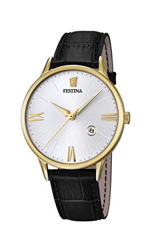 Festina Herren Analog Quarz Uhr mit Leder Armband F16825/1