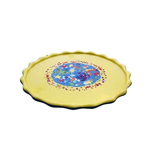 Cinhent Kids Water Sprinkle und Pad Game Mat Durchmesser Sprinkle Spielmatte Wasserkissen für Kinder im Freien (Freien Im Teppich-fliesen)