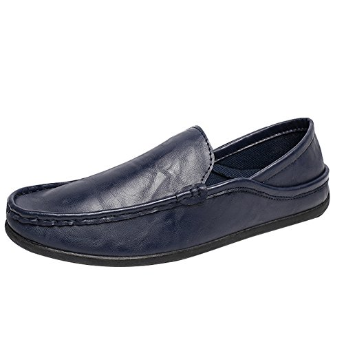SGoodshoes Homme Confort Flâneur Conduire Voiture Mocassins Loafers Chaussures Bateau Bleu