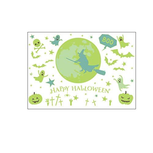 Morelyfish Halloween-Party-Thema-Wand-Aufkleber PVC-Abziehbilder Badezimmer Wohnzimmer Schlafzimmer Pub-Club glühenden Dekor