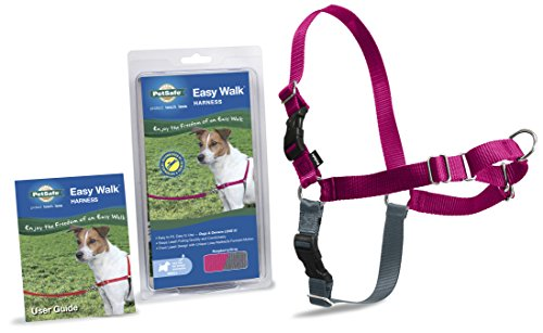 premier-dog-nylon-easy-walk-harness-reduce-pulling-small-raspberry-gray