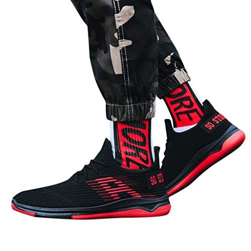 ABsoar Sneakers Herren Mode Laufschuhe Männer Atmungsaktives Freizeitschuhe Mesh Schuhe Turnschuhe Student Basketballschuhe Tennisschuhe