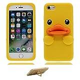 YuanYuZhongPhoneSky hülle für iPhone 7, 3D Entschen Ente Duck-Muster-TPU-Gel-Hülle [Slim-Fit] [Anti-Scratch] [Dämpfung] Silicone handyhülle für iPhone 7 4.7
