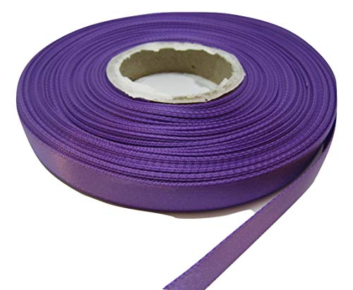 2 mètres x ruban de satin de 10mm violet pourpre double face 10 mm