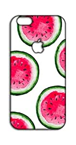 Happoz Watermelon Pattern on White Background Apple Iphone 7 Plus Logo Cut pouch Mobile Phone Back Panel Printed Fancy Pouches Accessories Z972