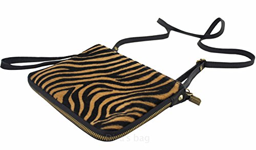 G&g Pelletteria , Damen Clutch Zebra Scuro