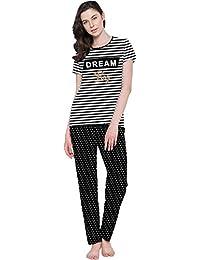 So Sweety Ladies Half Sleeve TOP & Printed Pyjama Pant Set