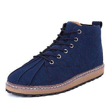 AIURBAG Da uomo-Stivaletti-Casual-Comoda-Piatto-PU (Poliuretano)-Nero Blu Marrone blue