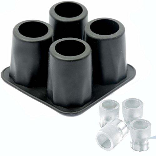 Silikon-Eisglasform - Eisform für 4 EIS-Gläser, wiederverwendbar schwarz