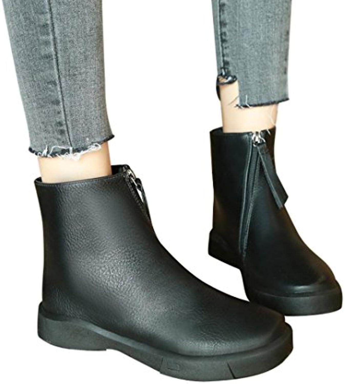 MCYs Stiefel Damen Schuhe Martin Stiefel Bare Boots British Stil Frühling Herbst Damenschuhe Dicke Kurze Stiefelö