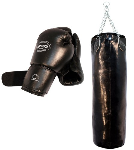 Heavy Duty Pro Guanti da boxe professionali, per adulti, con sacco paracolpi con catene